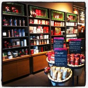Holiday set up - merch wall - store 302 - 12 Nov 2013