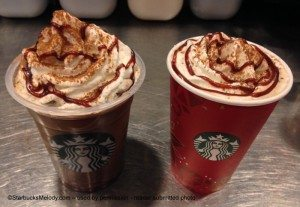 photo 2-1 Frappuccino and Cherrie Jubilee Mocha - Nov 2013