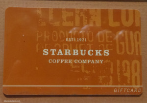 DSC00134 Prototype Gift Cards 2001 Starbucks
