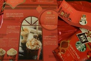 DSC00197 - Starbucks Snowman Pin - 3 pack of Via and pamphlet - 26 Dec 2013 copy