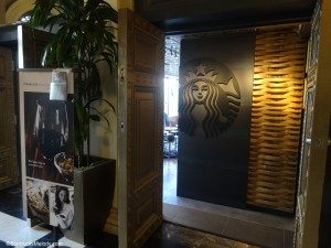 DSC00393 Hotel Lobby Entrance to 11th and Alder Evenings Starbucks in Portland 20 Jan 2014