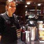 IMAG8788 Jess smiing - Casi Cielo coffee tasting 13Jan2014