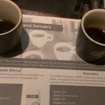 IMAG9293 Comparing Sumatra with Tribute Blend - Starbucks East Olive Way