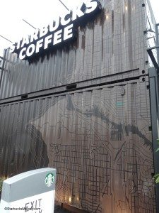 2 - 1 - DSC00642 Side of Ballard Shipping Container Starbucks map of seattle 01 March 2014 copy