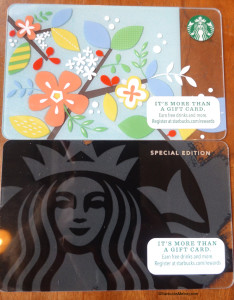 DSC00632 Spring Starbucks Cards
