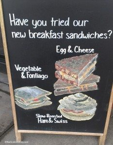 IMAG9372 Chalk sign for new breakfast sandwiches