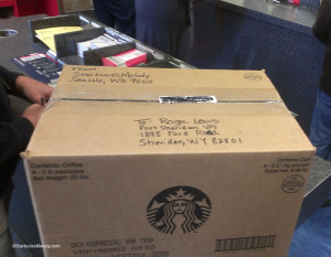 IMAG9705 box of coffee for Fort Sheridan veterans 29March2014