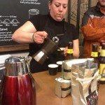IMAG0206 UV3 Steph pours coffee 22 April 2014