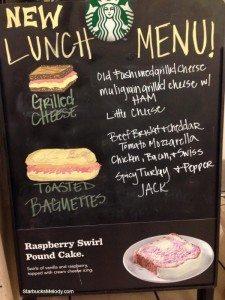 2 - 1 - New lunch menu chalk board