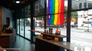 IMAG0554 Facing Pride Flag and Condiment Bar Westlake 29Jun14