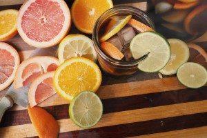 garnish and use plenty of fruit