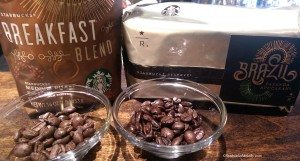 IMAG1294 bags of coffee with whole beans 28 July 2014 East Olive Way Starbucks