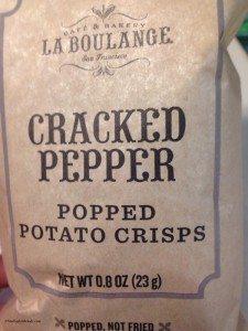 Popped cracked pepper crisps