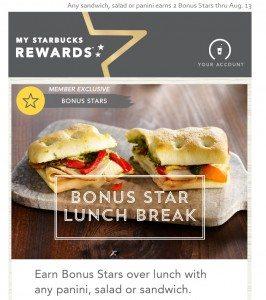 2 Bonus Stars for Lunch
