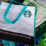 IMAG1907 Large Starbucks shopping bags - grocery sack size