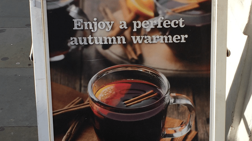 Starbucks in London Gets Hot Mulled Fruit.