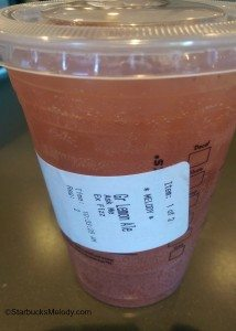 2 - 1 - IMAG2873 Lemon ale with a splash of strawberry on top 5Oct14 Tustin and Lincoln Starbucks Orange