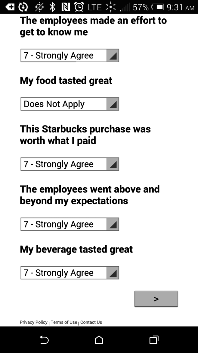Let Us Know What You Think: Starbucks Overhauls the Customer Surveys