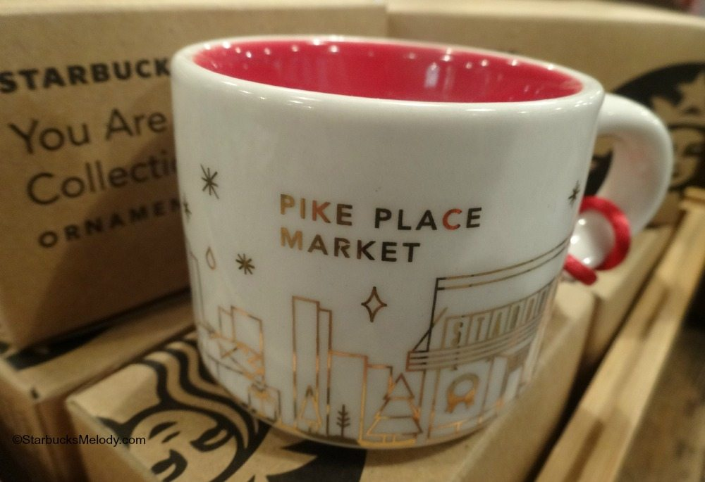 starbucks you are here ornaments 2014 1912 pike place exclusive