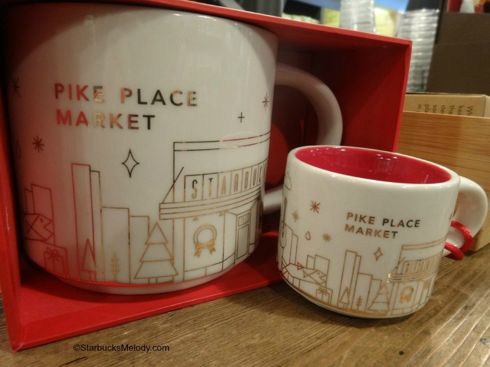 Starbucks You Are Here Ornaments 2014 1912 Pike Place