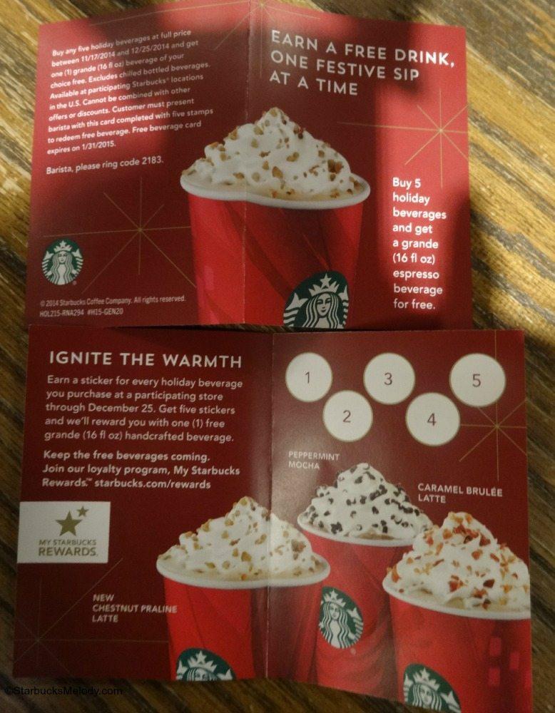 Special Starbucks Promo: Buy 5 Holiday Beverages, Get a Grande Beverage Free