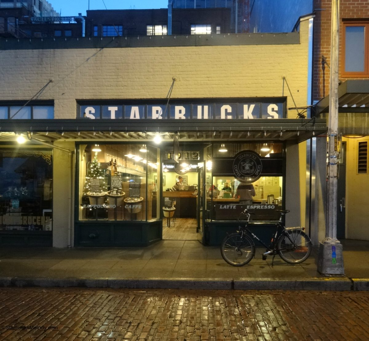 Early Morning at 1912 Pike Place Starbucks