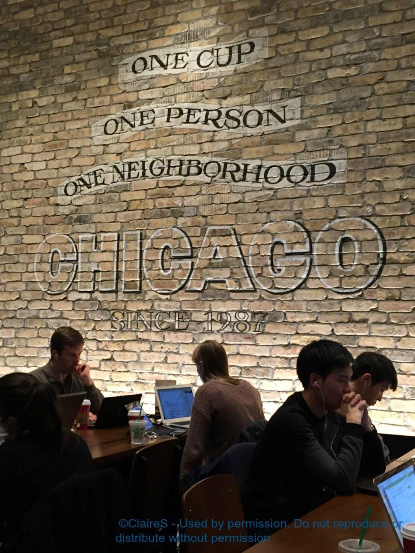 The Beautiful Oak and Rush Starbucks in Chicago