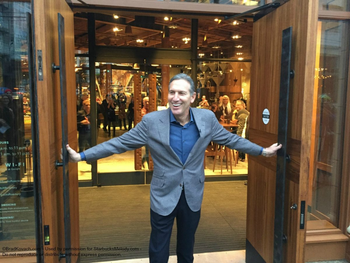 Howard Schultz Opens the Doors to the Roastery: Day One.