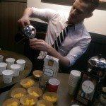 2 - 1 - IMAG4523 Patrek pouring Colombia coffee 6 Jan 15