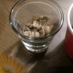 2 - 1 - IMAG4528 Colombia El Penol whole bean both unroasted and roasted and sweet mandarins