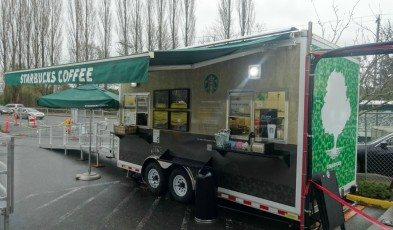 2 - 1 - DSC01533 trailer starbucks set up on 3Feb15 - Photo taken 7Feb15
