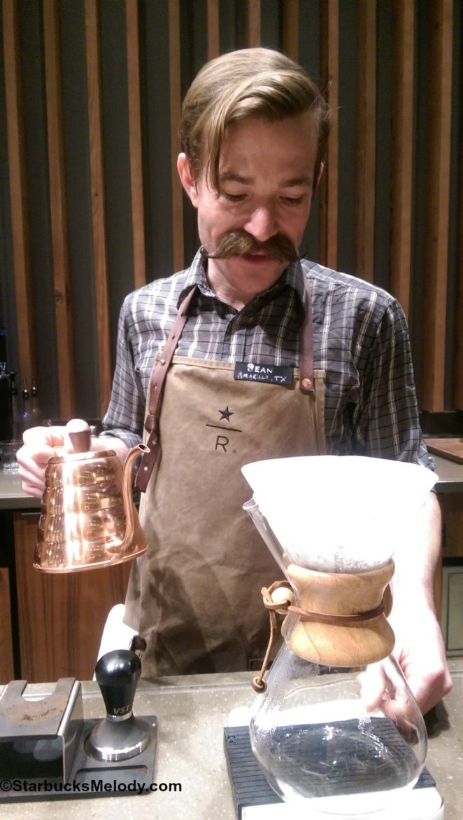 It is about the coffee. (The Experience Bar at the Starbucks Roastery)