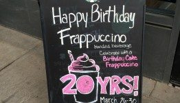 1 - 1 - image2-1 Outside signboard for Happy Birthday Frappuccino