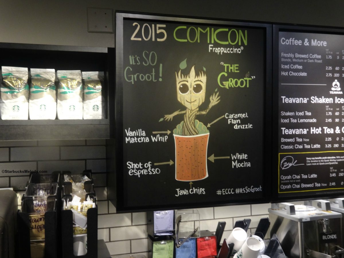 2015 Emerald City ComicCon: The Groot Frappuccino #ItsSoGroot #ECCC2015