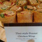2 - 1 - IMAG5884 Thai-style peanut chicken wrap