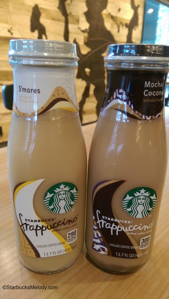 For the win at your local grocery: Bottled S'mores and Mocha Coconut Frappuccino Beverages!