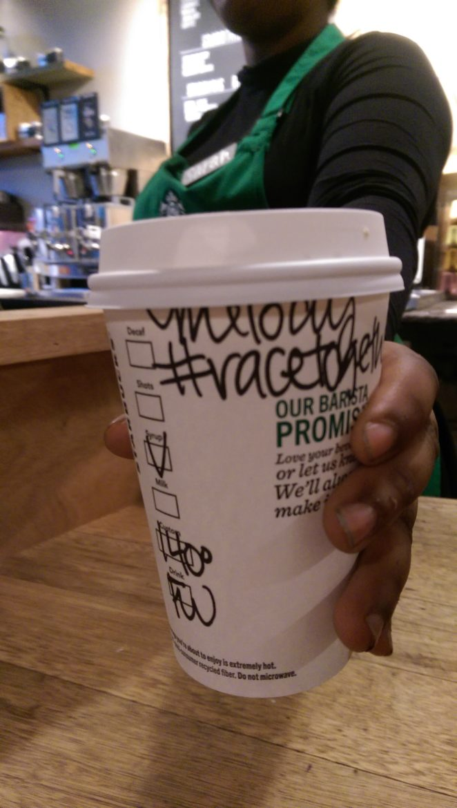 Let's #RaceTogether. Starbucks Leads a Race Dialogue.
