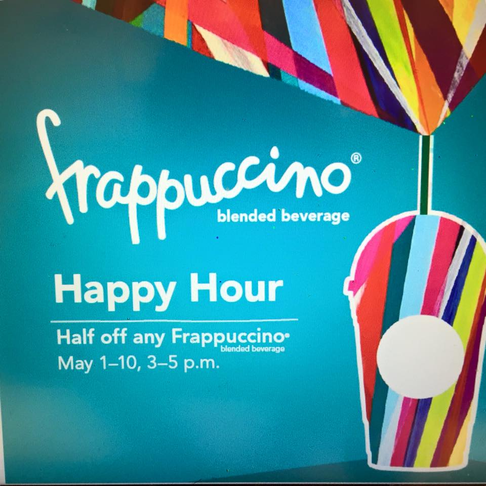Mark Your Calendars: Frappuccino Happy Hour is Coming Soon: May 1st – 10th
