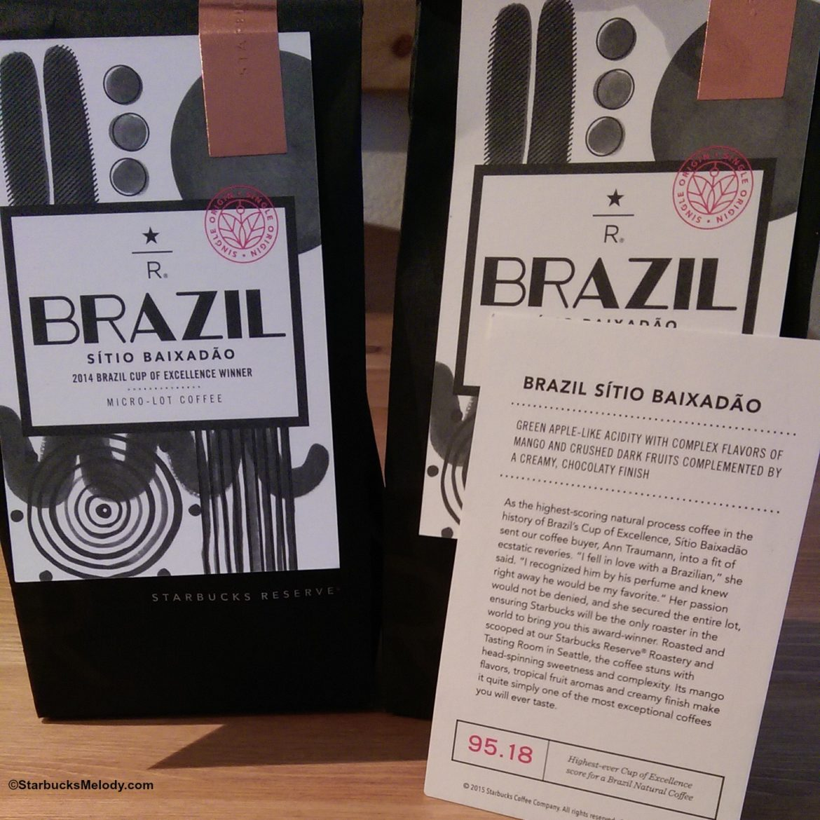 Starbucks offers its first Cup of Excellence winning coffee: Brazil Sitio Baixadao