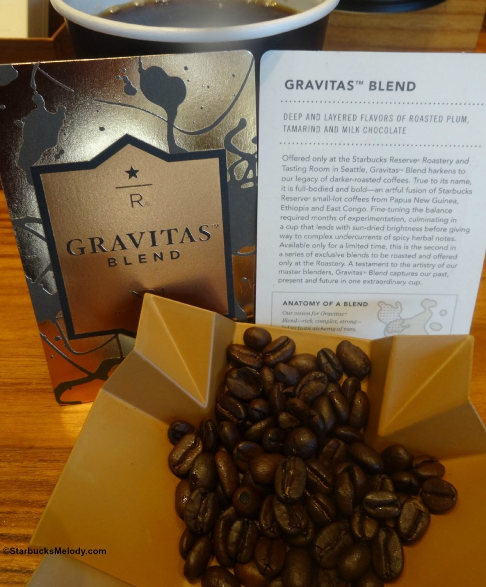 Exclusive to the Starbucks Roastery: Gravitas Blend