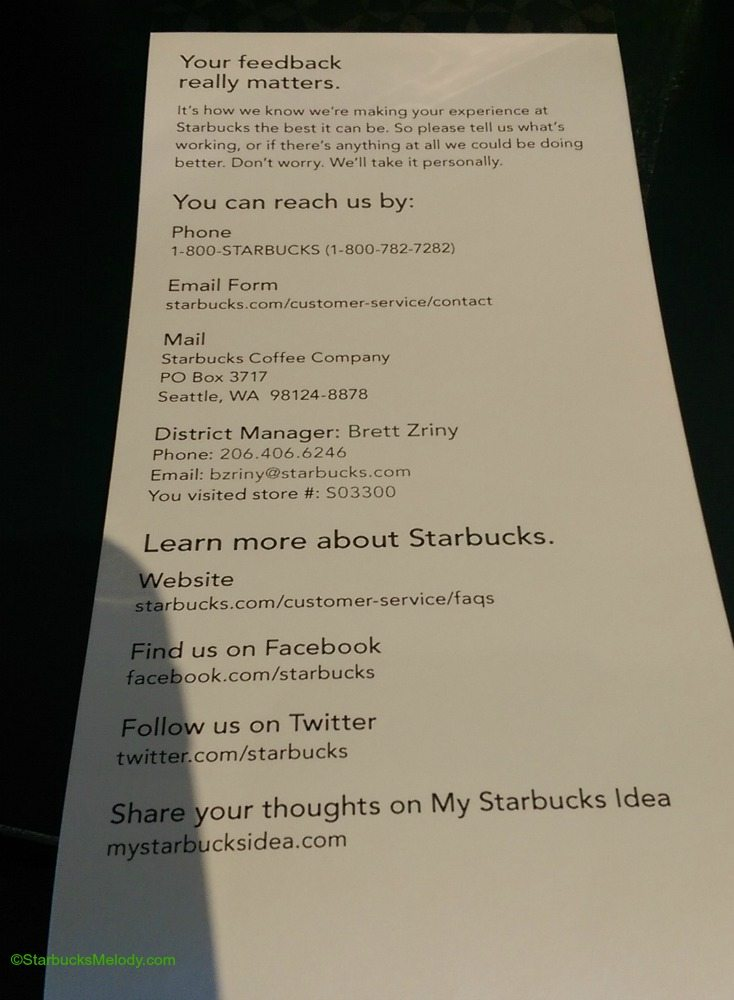 Starbucks Delivering Customer Service