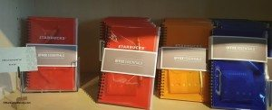 2 - 1 - 20150601_111337Starbucks office essential notebooks with post it notes and pens