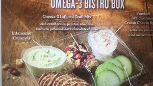 Omega 3 bistro box at Starbucks beginning 7-7-15