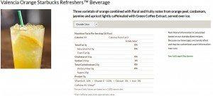 Untitled VOR - Starbucks nutritional information - Valencia