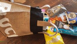 2 - 1 - 20150701_174149[1] snacks coming out of burlap sack