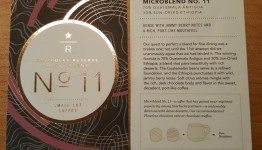 2 - 1 - 20150712_101708 Starbucks Micro Blend #11 Reserve Cards