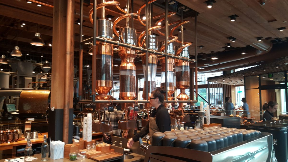The Starbucks Reserve Roastery and Tasting Room: What's on the scoop bar and photos.