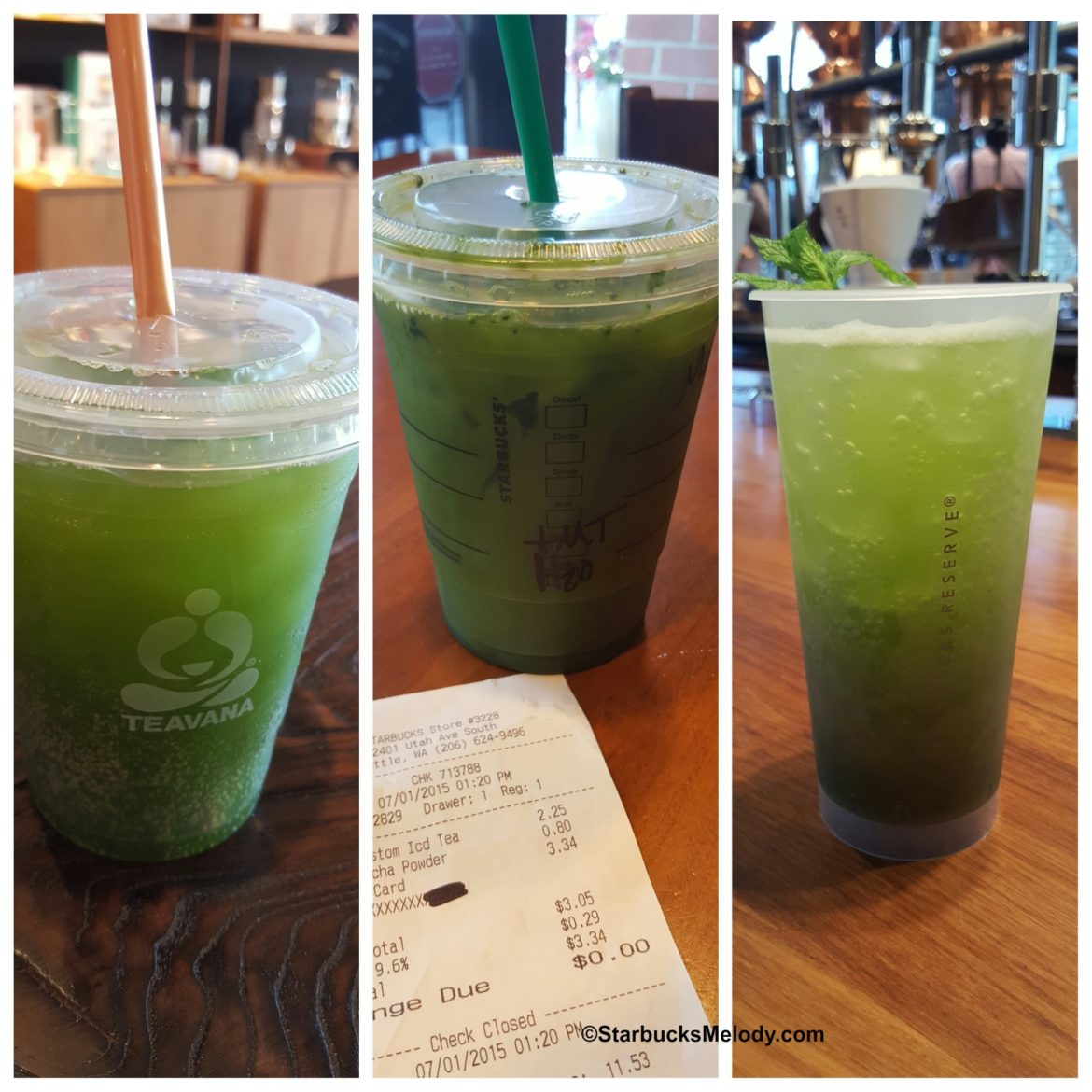 Iced Matcha Beverages: Starbucks, Teavana, and the Roastery