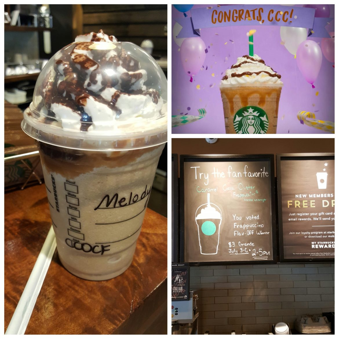 Frappuccino Deal – Try the Caramel Cocoa Cluster Frappuccino for $3 (July 3rd – 6th, 2 – 5 PM)