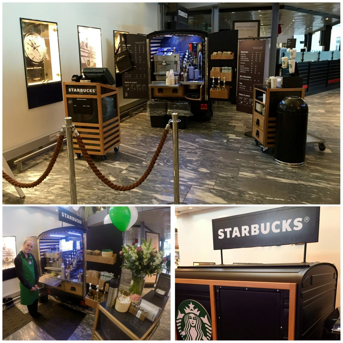 Possibly the smallest Starbucks ever!